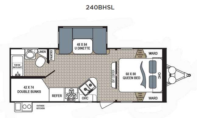 Floorplan - 2016 Dutchmen RV Kodiak Ultimate 240BHSL