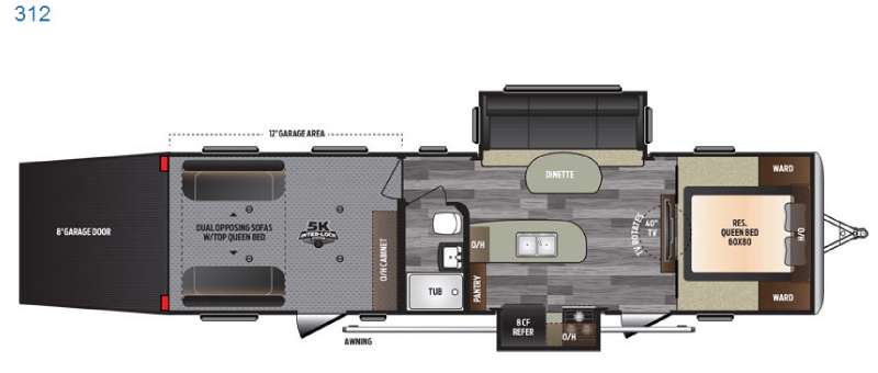 Floorplan - 2016 Keystone RV Impact 312