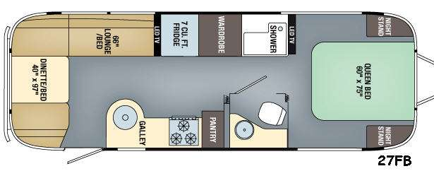 Flying Cloud Twin Bed Layout
