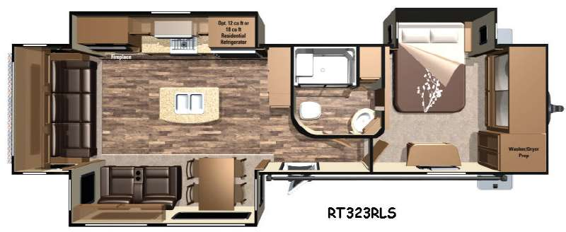 Floorplan - 2016 Highland Ridge RV Open Range Roamer RT323RLS