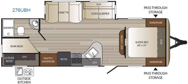Floorplan - 2016 Keystone RV Outback Ultra Lite 276UBH