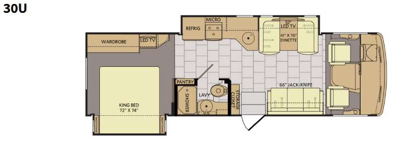 Floorplan - 2016 Fleetwood RV Flair 30U
