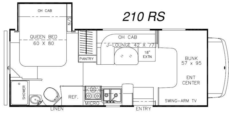 Floorplan - 2016 Coachmen RV Leprechaun 210RS Ford 450