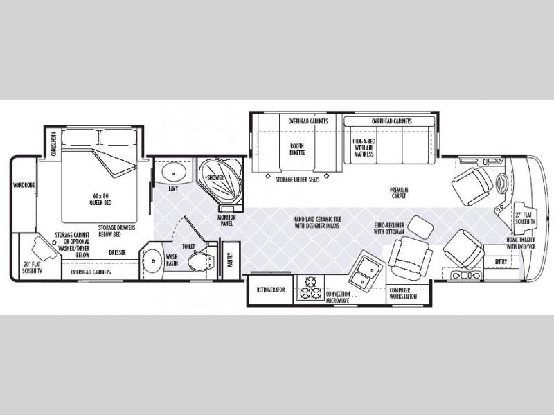 Floorplan - 2007 National RV Tropical LX T370