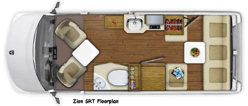 Floorplan - 2016 Roadtrek Zion SRT