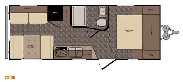 Floorplan - 2017 CrossRoads RV Z 1 ZT211RD