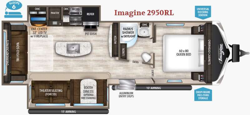 New 2017 Grand Design Imagine 2950rl Travel Trailer At