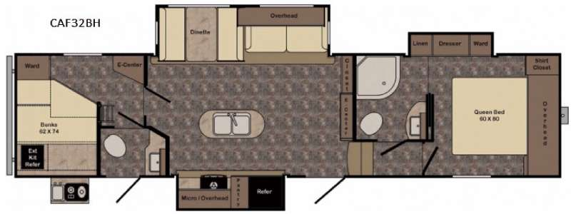 Floorplan - 2017 CrossRoads RV Cruiser Aire CAF32BH