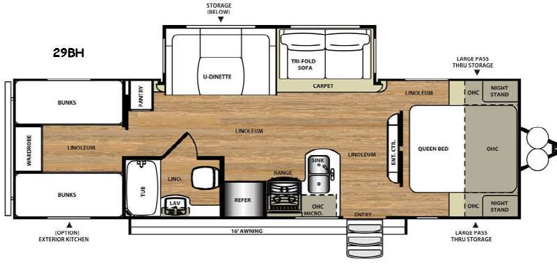 Floorplan - 2017 Forest River RV Salem Hemisphere Lite 29BH