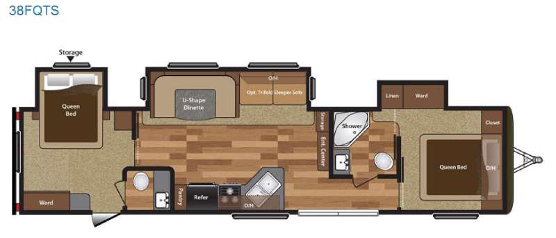 New 2017 Keystone Rv Hideout 38fqts 569524 3 on Park Model Floor Plans