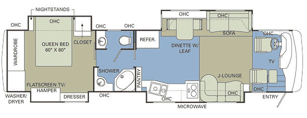 Floorplan - 2007 Holiday Rambler Imperial 42PBQ