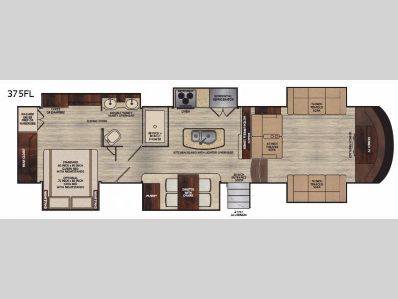 Vilano Fifth Wheel Rv Sales 3 Floorplans