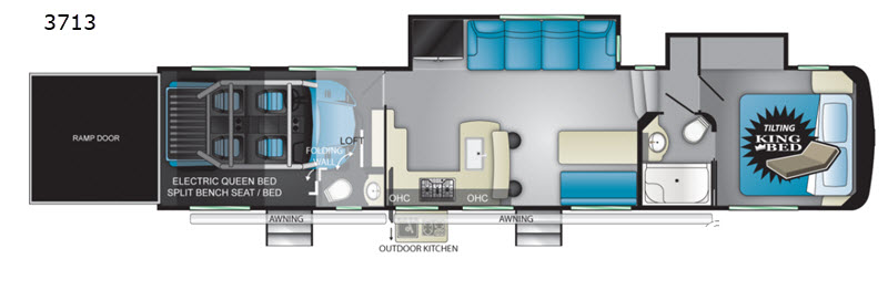 Cyclone Toy Hauler Fifth Wheel Rv Sales 10 Floorplans