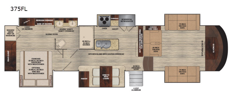 Vilano Fifth Wheel Rv Sales 6 Floorplans