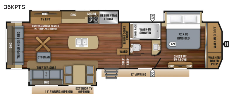 New 2019 Jayco Pinnacle 36KPTS Fifth Wheel at General RV