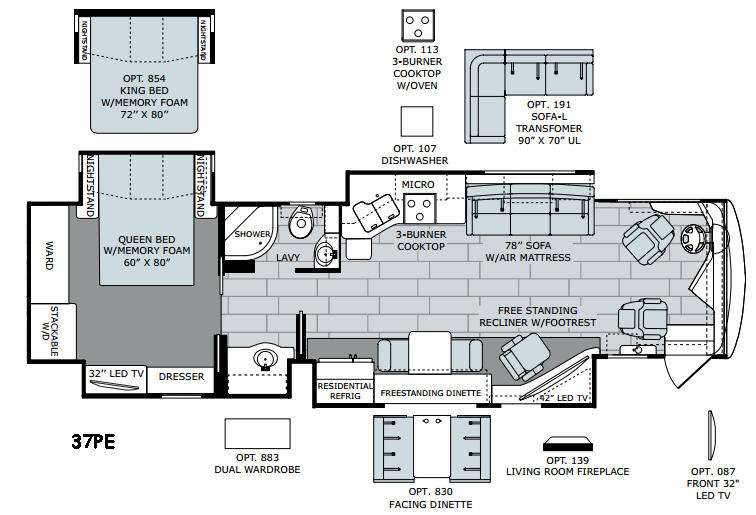 new 2016 holiday rambler endeavor xe 37pe motor home class a Keystone Wiring Diagrams