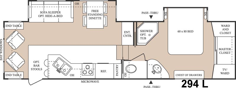 Floorplan - 2005 Keystone RV Everest 294L