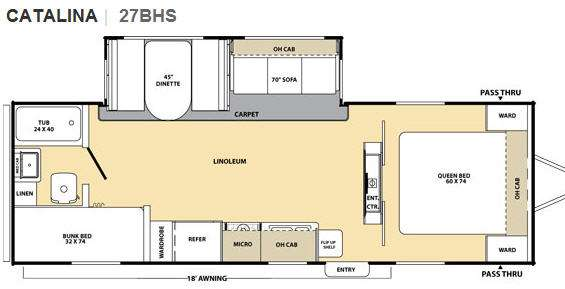 Floorplan - 2010 Coachmen RV Catalina 27BHS