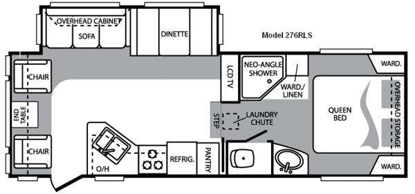 Floorplan - 2010 Keystone RV Cougar 276RLS