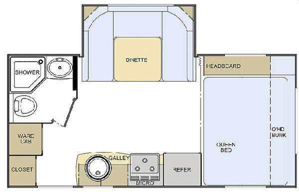 Floorplan - 2010 Lance Travel Trailers 1685