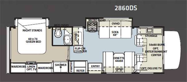 Floorplan - 2011 Forest River RV Sunseeker 2860DS