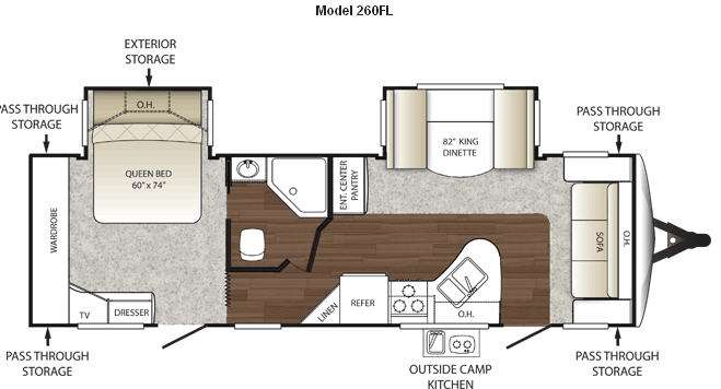 Floorplan - 2011 Keystone RV Outback 260FL