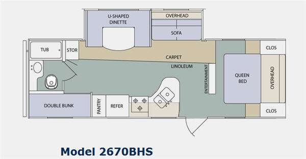 Floorplan - 2011 Prime Time Manufacturing Tracer 2670BHS