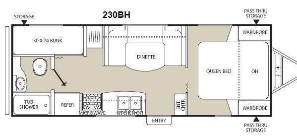 Floorplan - 2012 Coachmen RV Freedom Express LTZ 230BH