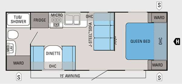 Floorplan - 2012 Jayco Jay Flight 22FB