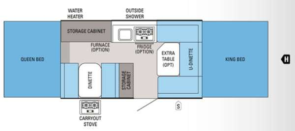 Floorplan - 2012 Jayco Jay Series 1207