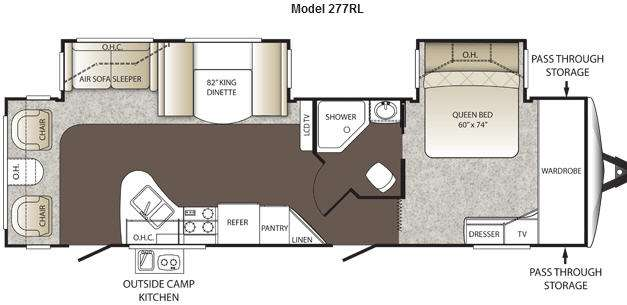 Floorplan - 2013 Keystone RV Outback 277RL