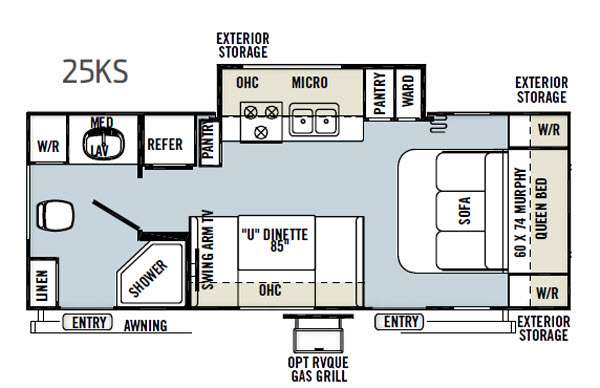 Floorplan - 2013 Forest River RV Flagstaff Micro Lite 25KS
