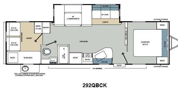 Floorplan - 2013 Coachmen RV Catalina Santara Series 292QBCK