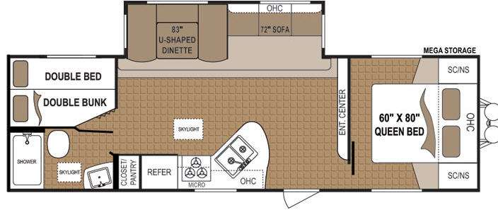 Floorplan - 2013 Dutchmen RV Aspen Trail 2810BHS