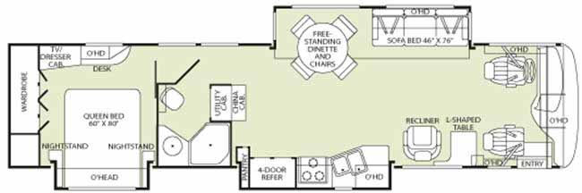 Floorplan - 2006 Fleetwood RV Excursion 39C