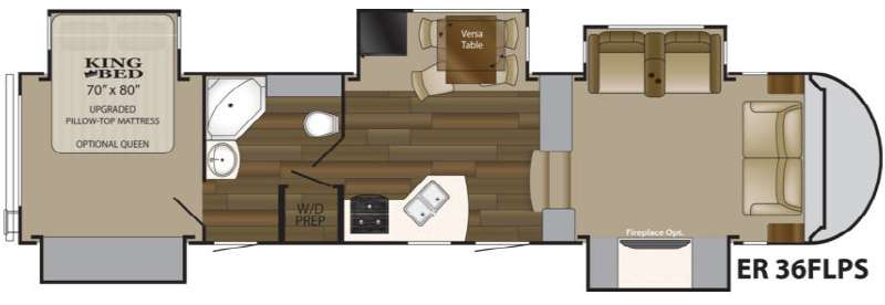 Floorplan - 2013 Heartland ElkRidge 36FLPS