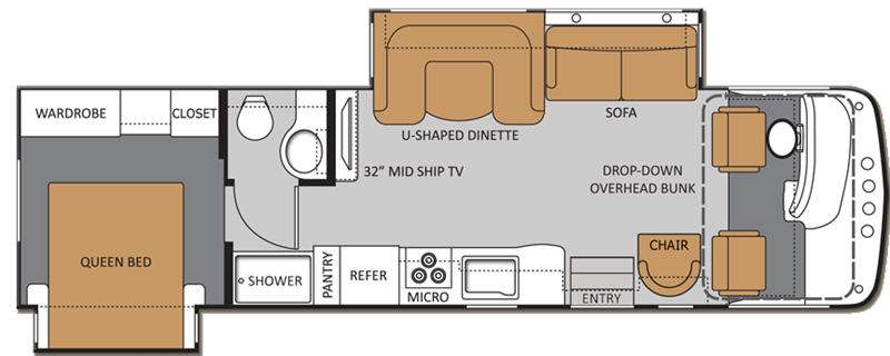 Floorplan - 2013 Thor Motor Coach Windsport 32A