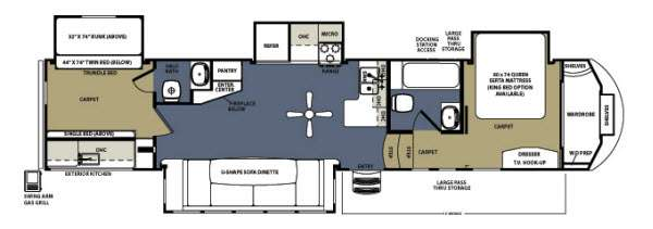 Floorplan - 2013 Forest River RV Sandpiper 376BHOK