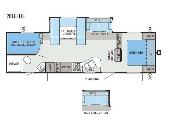 Floorplan - 2013 Jayco Jay Flight 28BHBE