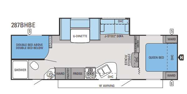 Floorplan - 2014 Jayco Jay Flight Swift 287BHBE