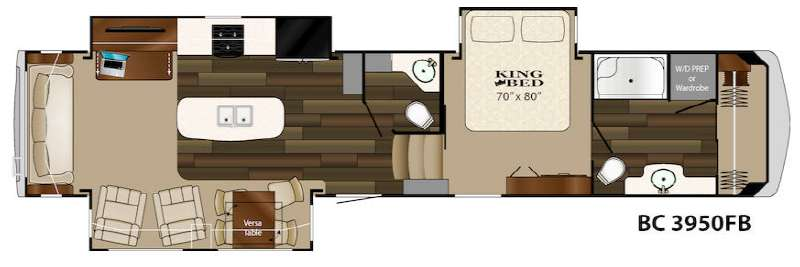 Floorplan - 2015 Heartland Big Country 3950 FB