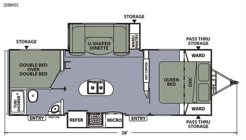 Floorplan - 2015 Coachmen RV Apex Ultra-Lite 259BHSS