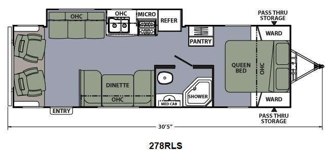 Floorplan - 2015 Coachmen RV Apex Ultra-Lite 278RLS