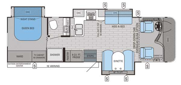 Floorplan - 2015 Jayco Precept 31UL