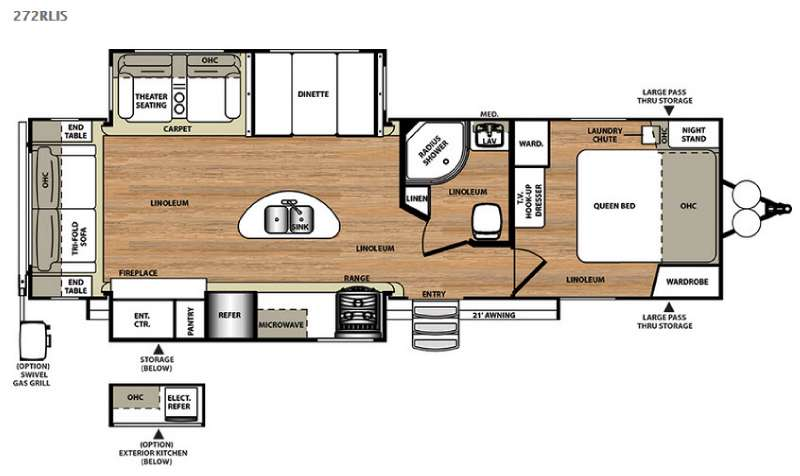 Floorplan - 2015 Forest River RV Salem Hemisphere Lite 272RLIS