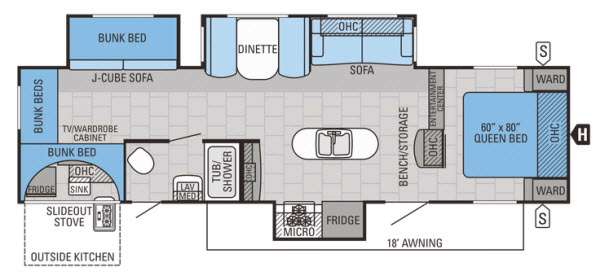 Floorplan - 2015 Jayco Jay Flight 32IBTS