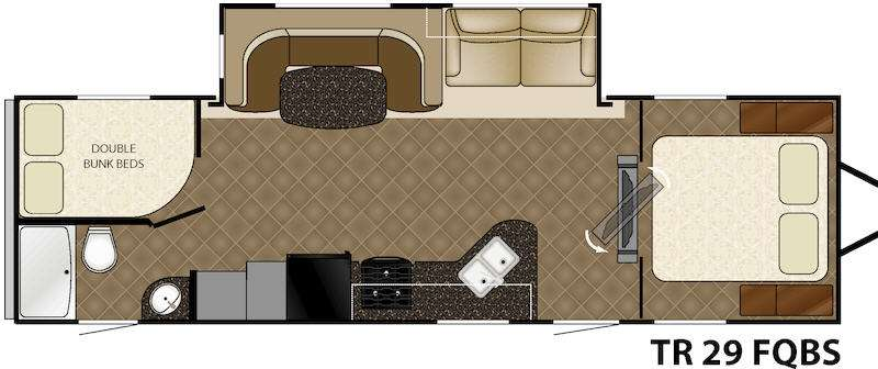 Floorplan - 2015 Heartland Trail Runner 29FQBS