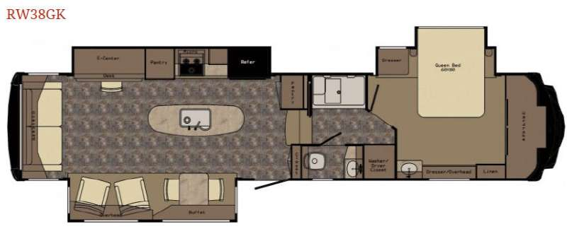 Floorplan - 2015 Redwood RV Redwood 38GK
