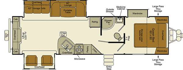 Floorplan - 2015 EverGreen RV Ever-Lite 31REW