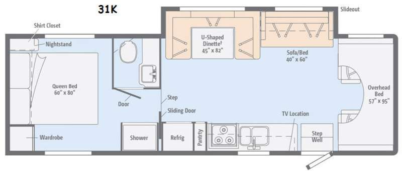 Floorplan - 2015 Itasca Spirit 31K